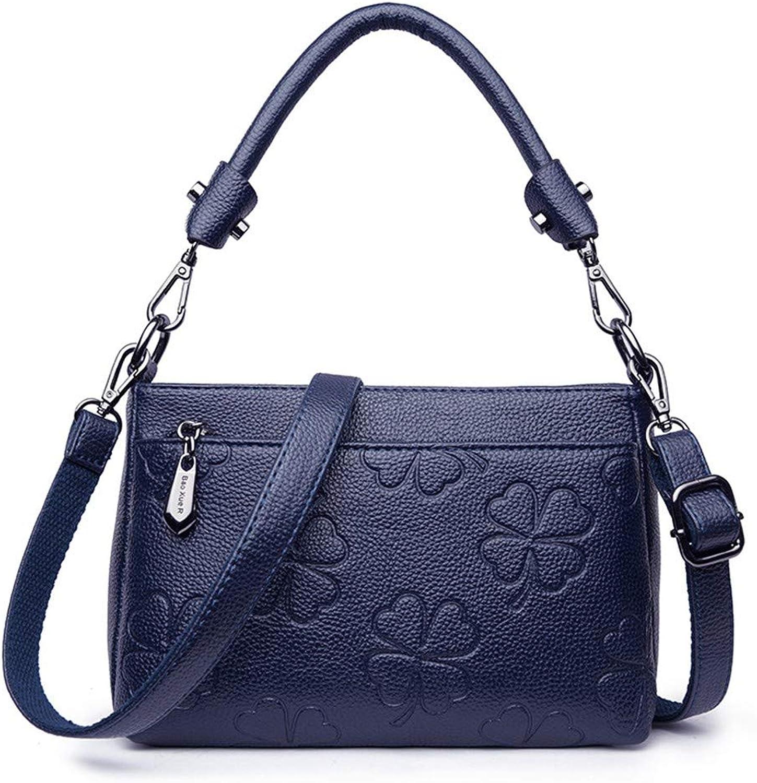 NZZNB Fashionable Mini Single Shoulder Bag with Four Leaves Grass Pattern Pure color Simple and Elegant Slant Bag Top-Handle Handbags