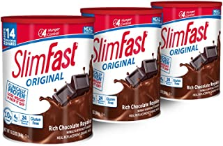 SlimFast Original Rich Chocolate Royale, Mix – Weight Loss Powder – 12.83oz. – 14 servings - Pack of 3