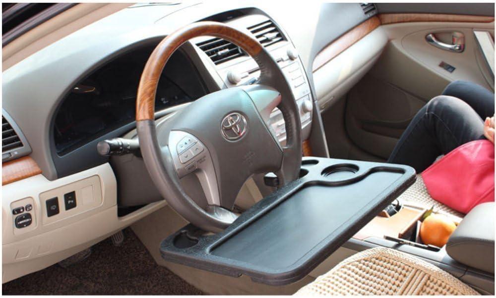 DQDZ Universal Auto Multifunktionstisch Lenkrad Tisch Laptop Schreibtisch f/ür Lenkrad Beifahrersitz Schwarz