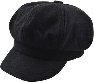 Monique Women Vintage Wool Newsboy Cap Cabbie Hat Visor Beret Hat Peaked Cap