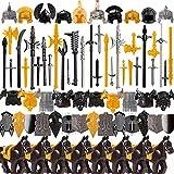 Mocdiy Juego de armas y accesorios para figuras de soldados, 80 unidades, estilo griego antiguo, casco, espada, para figuras Lego