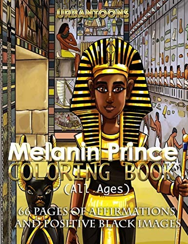 Melanin Prince Coloring Book All ages 66 pages of affirmations and positive black images product image
