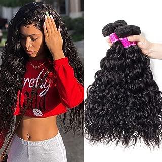 RECOOL 10A Wet and Wavy Human Hair Water Wave Bundles Virgin Brazilian Hair Cheap Bundles of Hair for Sale Natural Color(18 20 22)