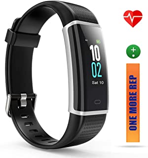 ZURURU Health & Fitness Watch with Heart Rate Monitor, Waterproof Fitness Tracker and Step Counter for Walking & Running, Pedometer Watch for Men and Women