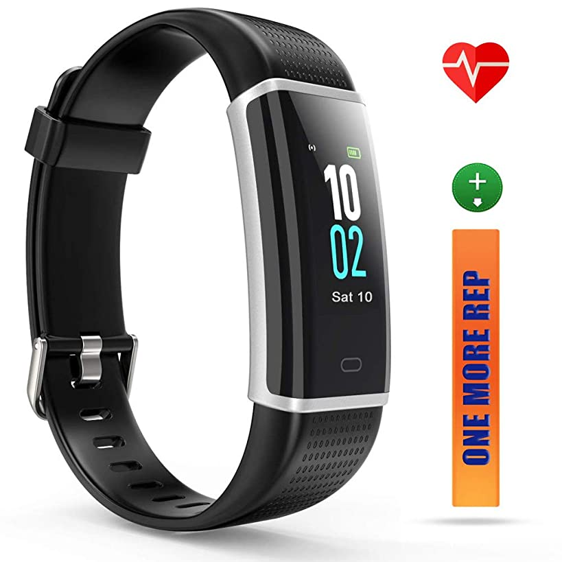 ZURURU Activity Tracker HR Color Screen, IP68 Waterproof Fitness Tracker with Heart Rate Monitor, Pedometer Watch with Step Counter, Sleep Monitor for Men Women Kids Gift