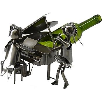 WINE BODIES ZB855 Choo Train Metal Wine Bottle Holder Charcoal