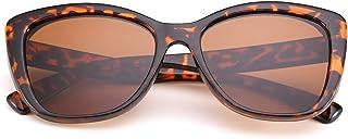 Sponsored Ad - FEISEDY Polarized Vintage Sunglasses American Square Jackie O Cat Eye Sunglasses B2451