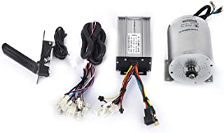 VEVOR Electric Motor 48V 1800W DC Motor 4500 RPM Rated Speed Brushless Motor and Controller with Throttle Pedal Wire Harness Set for Electric Scooter Go Kart E-Bike