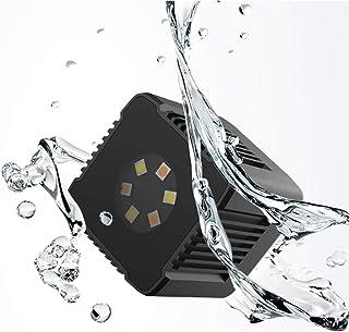 Sutefoto Mini Cube Led Luz de Bolsillo Video de Cámara Recargable a Prueba de Agua con Aplicación Magnética Compatible para Cámara de Acción DSLR Drone Smartphone Submarino