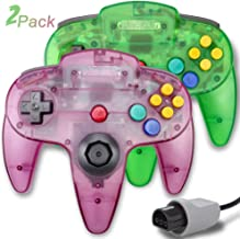 $26 » 2 Packs N64 Controller, King Smart Wired N64 Controllers with Upgraded Joystick for Original Nintendo 64 Console (Jungle G...