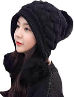 [ミートン] レディース 帽子 ニット ニットキャップ Hat 厚手 冬 かわいい 防寒 防風 耳保護付き 保温 ぬくぬく アウトドア アウトドア
