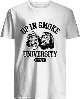 up in Smoke University Shirt White