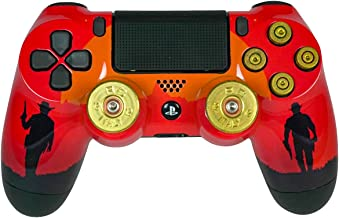Outlaw Playstation 4 PS4 Dual Shock 4 Wireless Custom Controller with Bullet Buttons and Joysticks (Outlaw Bullet Edition)