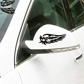 ZaCoo Car Rearview Mirror Decal Angel Wings Stickers for Auto Car Side Mirror 2 Pcs 5.5x2.6inch (Black)