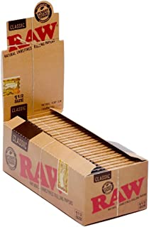 Raw Classic 1 1/2 Size Rolling Paper Full Box of 25 Packs