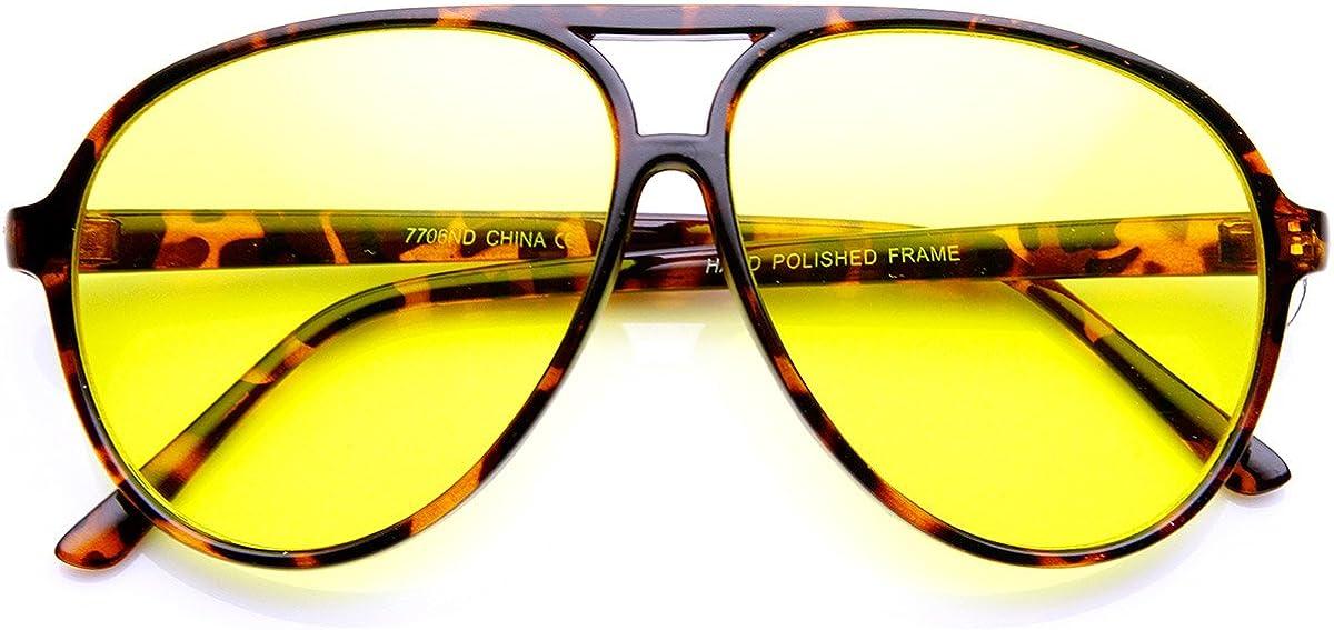70s Clothes | Hippie Clothes & Outfits Retro 80s Style Driving Lens XL Large Plastic Aviator Sunglasses  AT vintagedancer.com