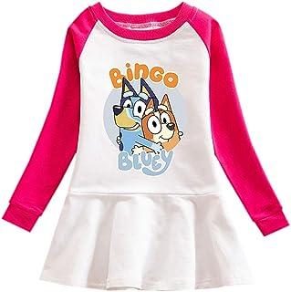 Long Sleeve t Shirt Girls Graphic Crew Neck Raglan Cotton Cartoon Clothes Dress Sweatshirt for Toddler Kids Little Girls