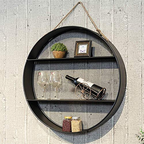 Decoratiestandaard voor thuis/Nordic, creatieve ronde ritssluiting van smeedijzer om op te hangen aan de muur, minimalistische achtergrond aan de muur, tv-plank (maat: 55 cm