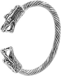 comprar comparacion Fishhook - Pulsera de metal con cabeza de dragón vikinga