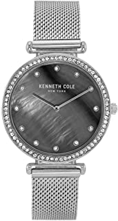 Kenneth Cole Women's Mother-Of Pearl Mesh KC50927001 Silver Stainless-Steel Quartz Dress Watch