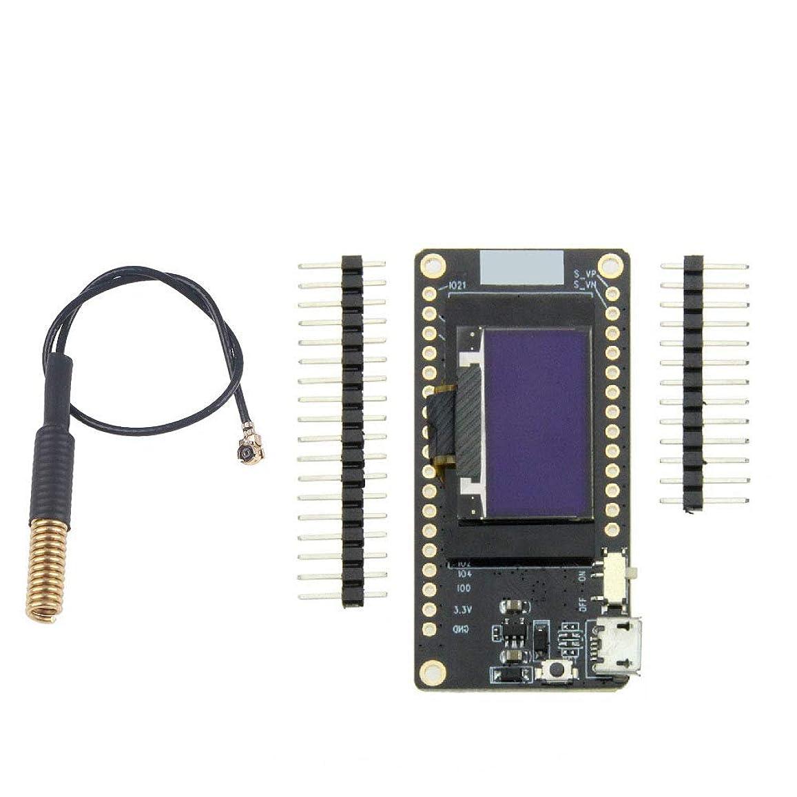 権限薄い腐ったWINGONEER LORA32 V2.0 433MHz ESP32 LoRa OLED 0.96インチディスプレイスクリーンSDカードブルーブルートゥースWIFIモジュール付きアンテナ