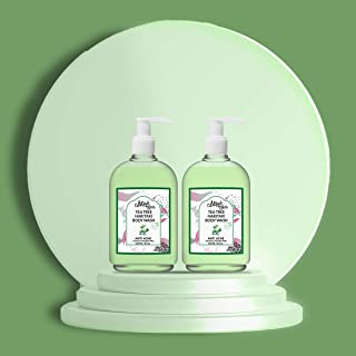 Mirah Belle - Tea Tree, Haritaki - Anti Acne Body Wash (Pack of 2) - Natural and Organic - Best for Acne, Blemishes, Scar...