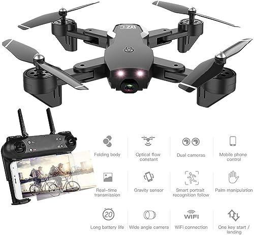 MBEN Drone et caméra, 1080P FPV WiFi Grand Angle Double caméra Drone à Quatre Axes, Suivi Intelligent, Mode sans tête, Hauteur Fixe, Drone avec caméra pour Les Adultes pour Les débutants,noir