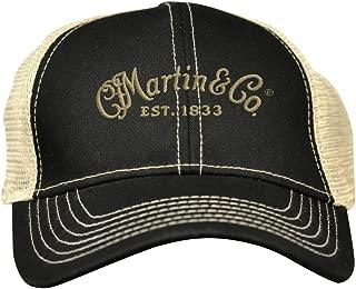 Martin Trucker Hat with Tan Mesh Black