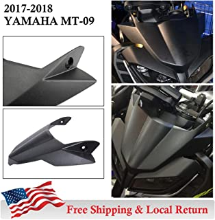 UltraSupplier ((Ship from USA)) for Yamaha MT09 FZ09 2017 2018 2019 MT FZ 09 Motorcycle Fly Screen Front Fender Beak Cowl Protector