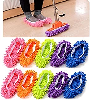 Catsayer Mop Slippers Shoes Cover, Soft Washable Reusable Microfiber Foot Socks Floor..
