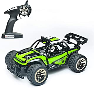 Haktoys 1:16 Scale High-Speed Remote Control Car, 2.4Ghz Off Road RC Trucks | Rechargeable RC Stunt Buggy Car | Fun Electric Toy Car | Hobby Toy Gift for Kids, Teens, and RC Hobbyists (Green)