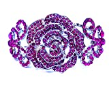 Rosa y plateado estilo Vintage rosa novia cóctel plata pulsera brazalete para las mujeres, señoras llegó en una bonita bolsa de regalo