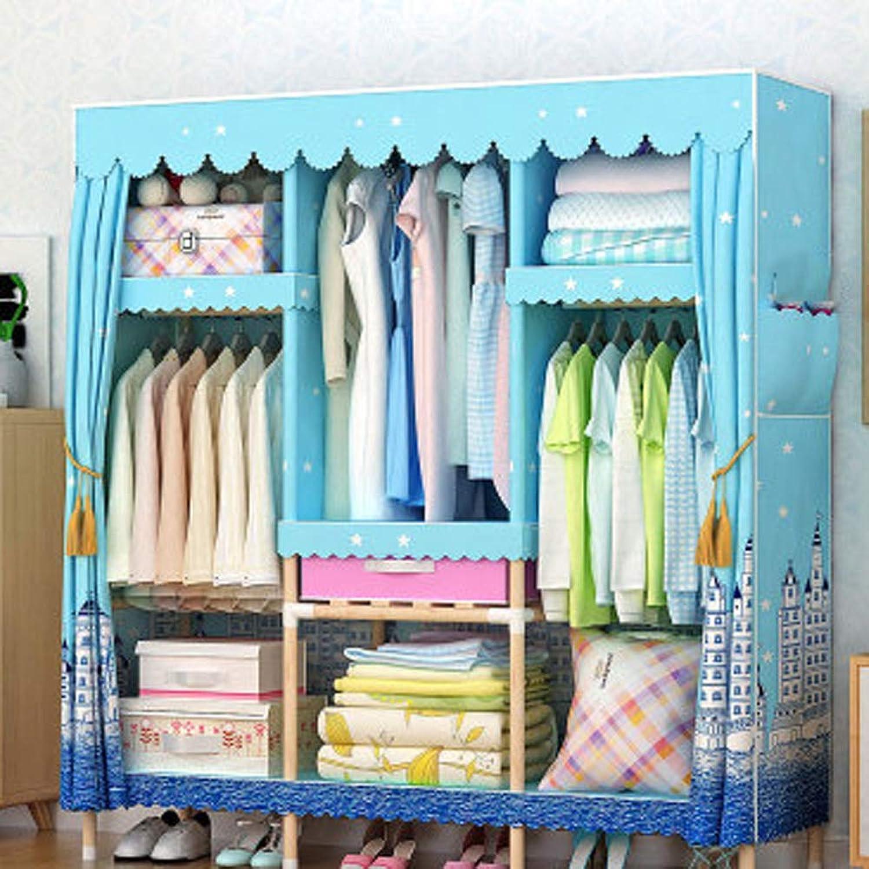 Kleiderschrank, Massivholz, starke Belastung Polyester-Baumwolle langlebig feuchtigkeitsBestendig,B