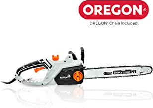 Ivation Electric Chainsaw 16-Inch 15.0 AMP with Auto oiling, Automatic Tension & Chain Break,Corded, Powerful Oregon Chain, Includes Bonus Oil Bottle