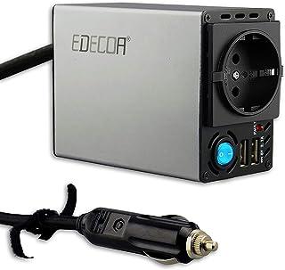 EDECOA inversor 300w Inversor de corriente para coche 12v 220v inversor mechero 2 puertos USB convertidor 12v 220v
