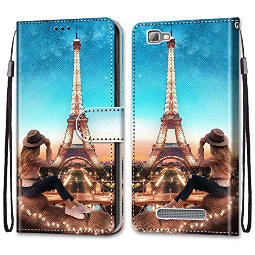 FlipBird ZTE Blade A610 Case, Magnetic PU Leather Card Slots Wallet Case Shockproof PU Leather Flip Protective Cover Wrist Strap For ZTE Blade A610 Print#1