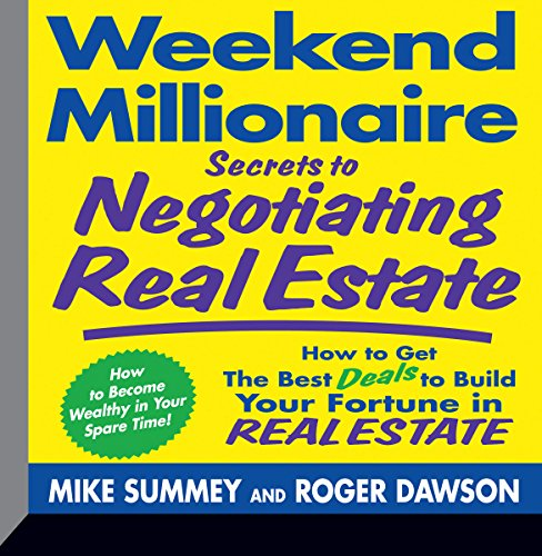 Weekend Millionaire Secrets to Negotiating Real Estate audiobook cover art