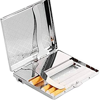 zmayastar 電熱線ライター付きタバコケース シルバー USB充電式 最大14本収納できるシガレットケース SH-DHJ-02