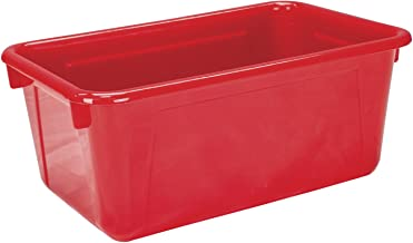 School Smart Tote Tray, 12 x 8 x 5 Inch, Red
