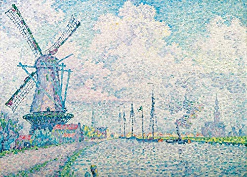 PAUL SIGNAC The Canal of Overschie, detail Frans Neo-impressionisme, Pointillisme, 1906. 250gsm Gloss Art Card A3 Reproductie Poster