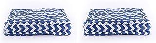 Homevibes Cojín para Silla, Juego de 2 Cojines de 40 x 40 x 9 cm de 100% Algodon para Interior y Exterior, Cojin Cuadrado para Suelo (Diseño 4)