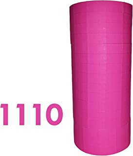 Labels for Monarch 1110, Fluorescent Pink price gun labels, 16 rolls ink roller included
