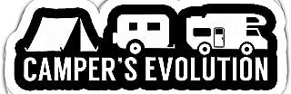 chillylkst Funny RV Trailer Motorhome Tent - Evolution- 4x3 Vinyl Stickers, Laptop Decal, Water Bottle Sticker (Set of 3)