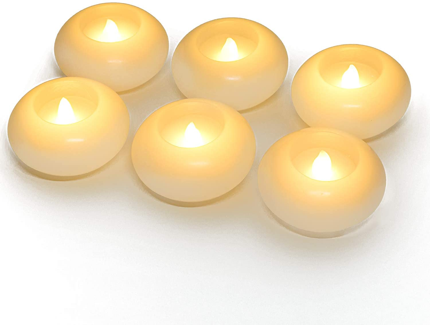 Homemory 3 Inch Minneapolis Mall Flameless Floating White Detroit Mall Wax Hour Candles 150