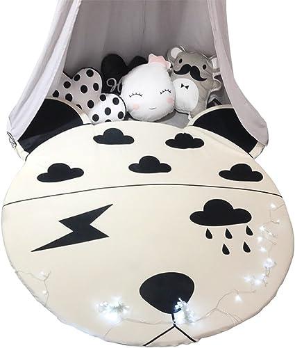 Li Li Na Shop Nordic Cartoon Runde Spiel pad Cute Tierform Matte Wohnzimmer abnehmbaren Teppich Baby Spiel Krabbeldecke Freizeit Siesta Matratze (Größe   150cm(59 inches))