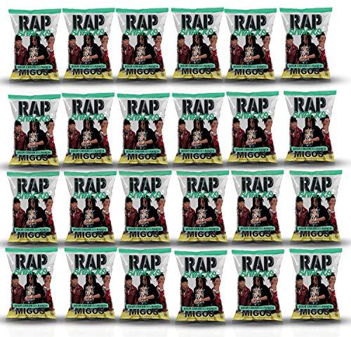 Rap Snacks Potato Chips 2.5 oz Bags (Migos Sour Cream Dab of Ranch, 24 Pack)