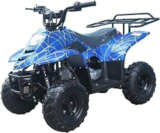 X-PRO 110cc ATV Quads Youth ATV Kids Quad ATVs 4 Wheeler (Spider Blue)