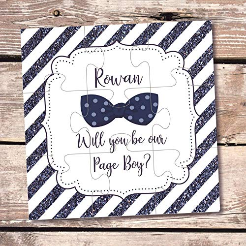Page boy jigsaw puzzle Will you be our page boy gift page boy invitation