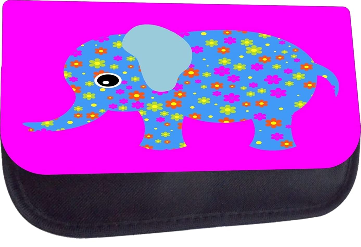 Rosie Parker Inc. TM Pencil Case Made in the U.S.A.-Cute Floral Patterend Baby Elephant Print Design
