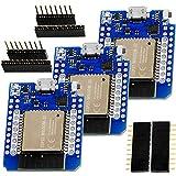ICQUANZX 3PCS NodeMCU ESP32 ESP-WROOM-32 WLAN WiFi Bluetooth IoT Development Board 5V Compatible for Arduino